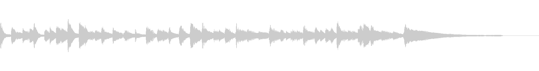 ワルツ ピアノジングルの未再生の波形