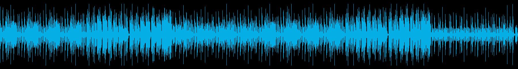 コミカルで可愛らしいゲーム系のBGMの再生済みの波形