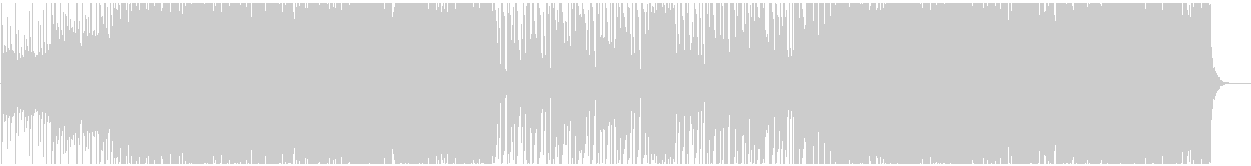 明るく元気なシンセとギターポップの未再生の波形