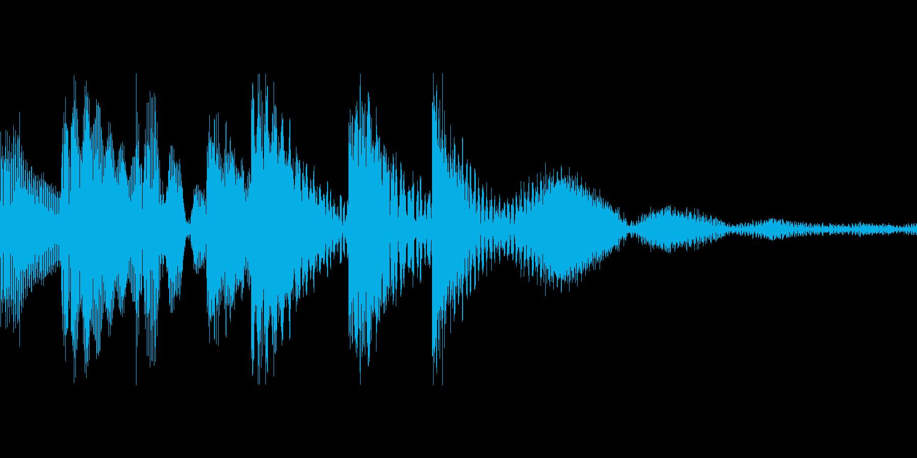 ゲーム用:アイテムゲット「ピロリン」の再生済みの波形