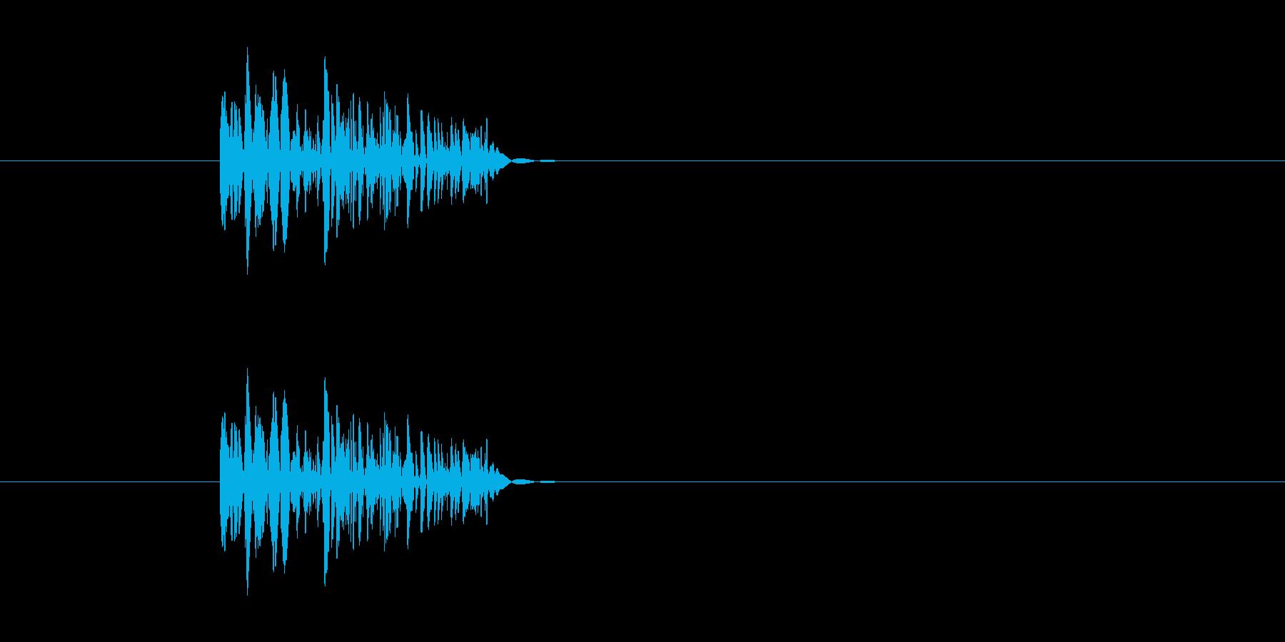 パンチ効果音 ドッ 打撃 ボッ 殴るの再生済みの波形
