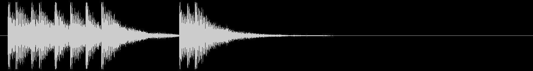 和楽器☆和風ジングル4リバーブの未再生の波形