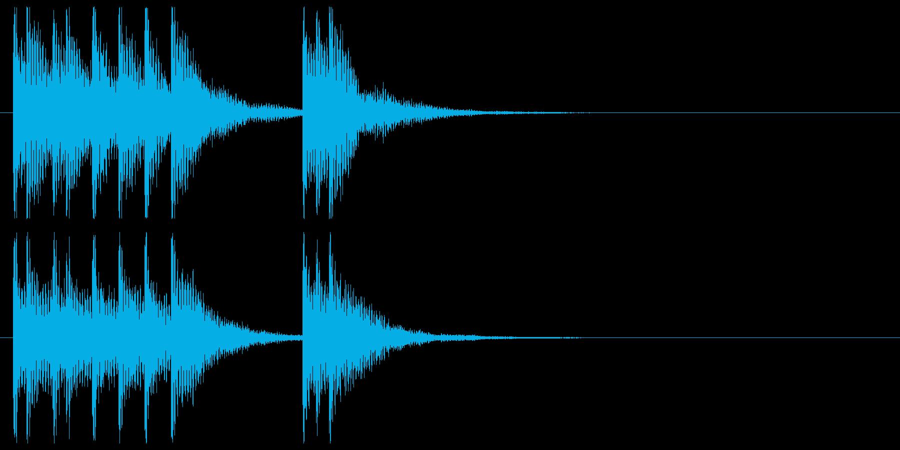 和楽器☆和風ジングル4リバーブの再生済みの波形
