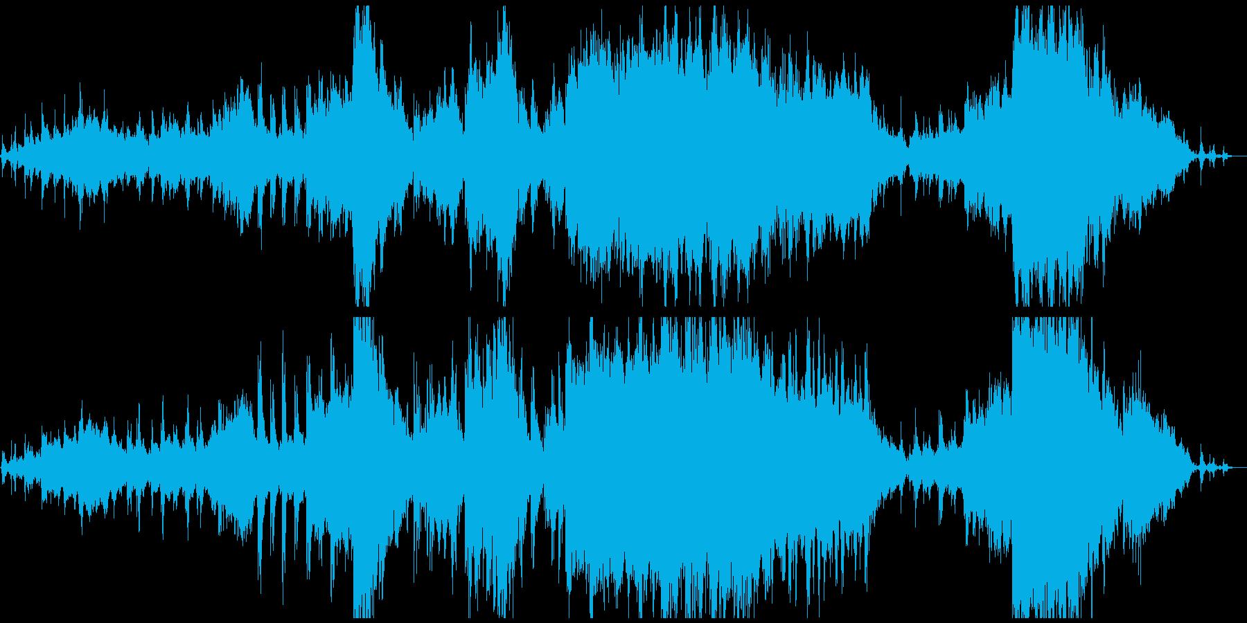 海をイメージした感動的なBGMの再生済みの波形