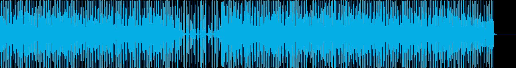 映像を引き立たせるためのシンプルなテクノの再生済みの波形