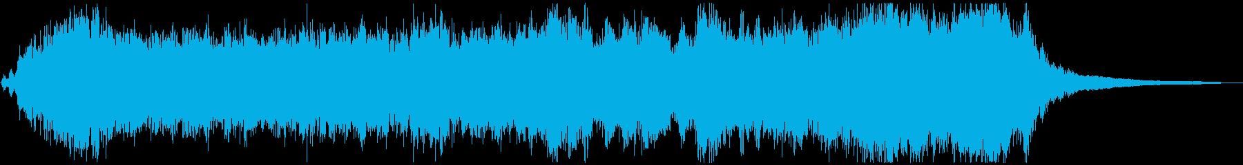 明るく希望的なオーケストラジングルの再生済みの波形