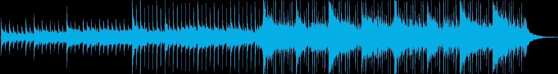 ピアノ、ストリングス、エレキギター...の再生済みの波形