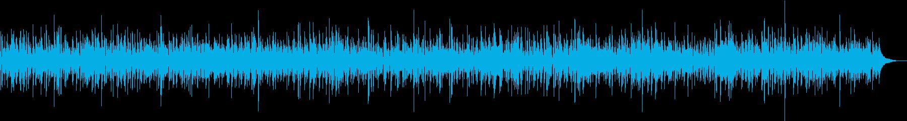 軽快なアコギとピアノ中心のボサノババンドの再生済みの波形