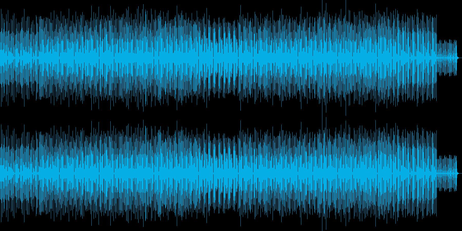 ピコピコ音が楽しいリズミカルなBGMの再生済みの波形
