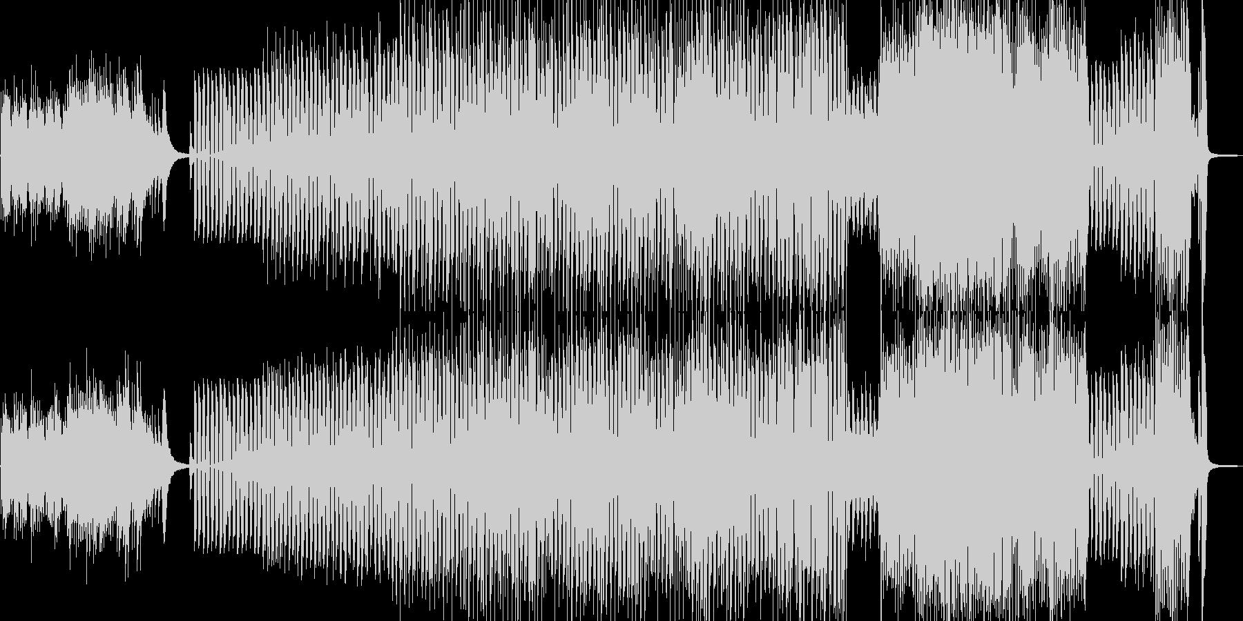 悲しいイントロからムーディに展開…ジャズの未再生の波形