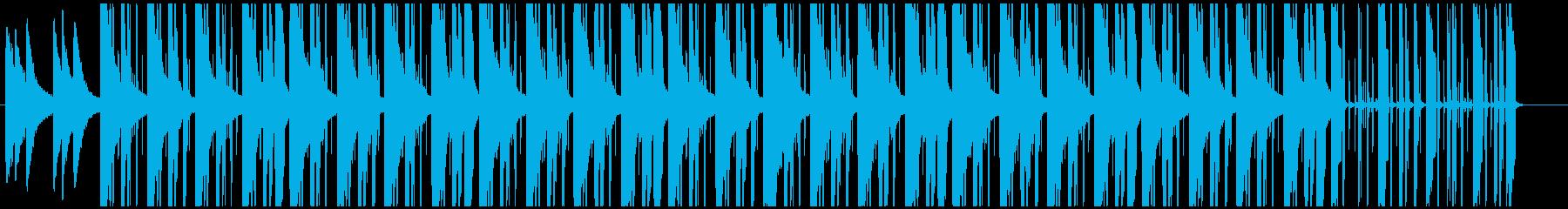 スローリーなビート感チルソングの再生済みの波形