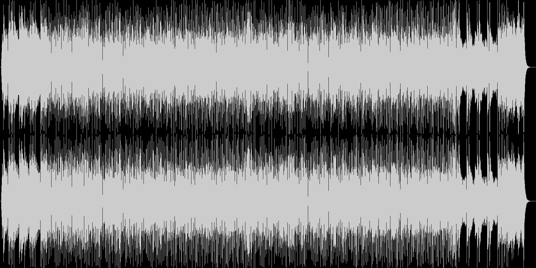 明るく晴れやかな印象シンセサイザー曲の未再生の波形