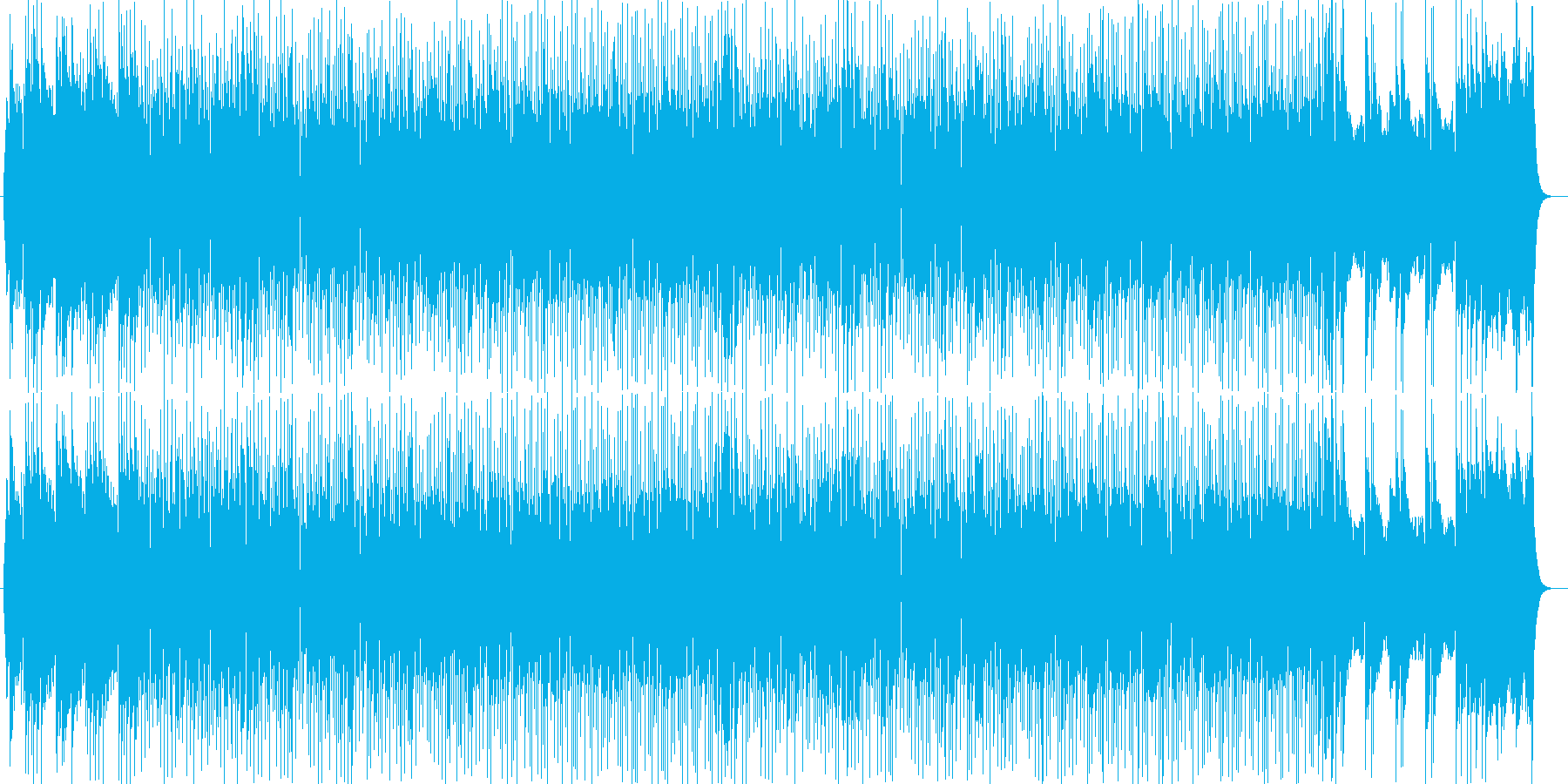 明るく晴れやかな印象シンセサイザー曲の再生済みの波形