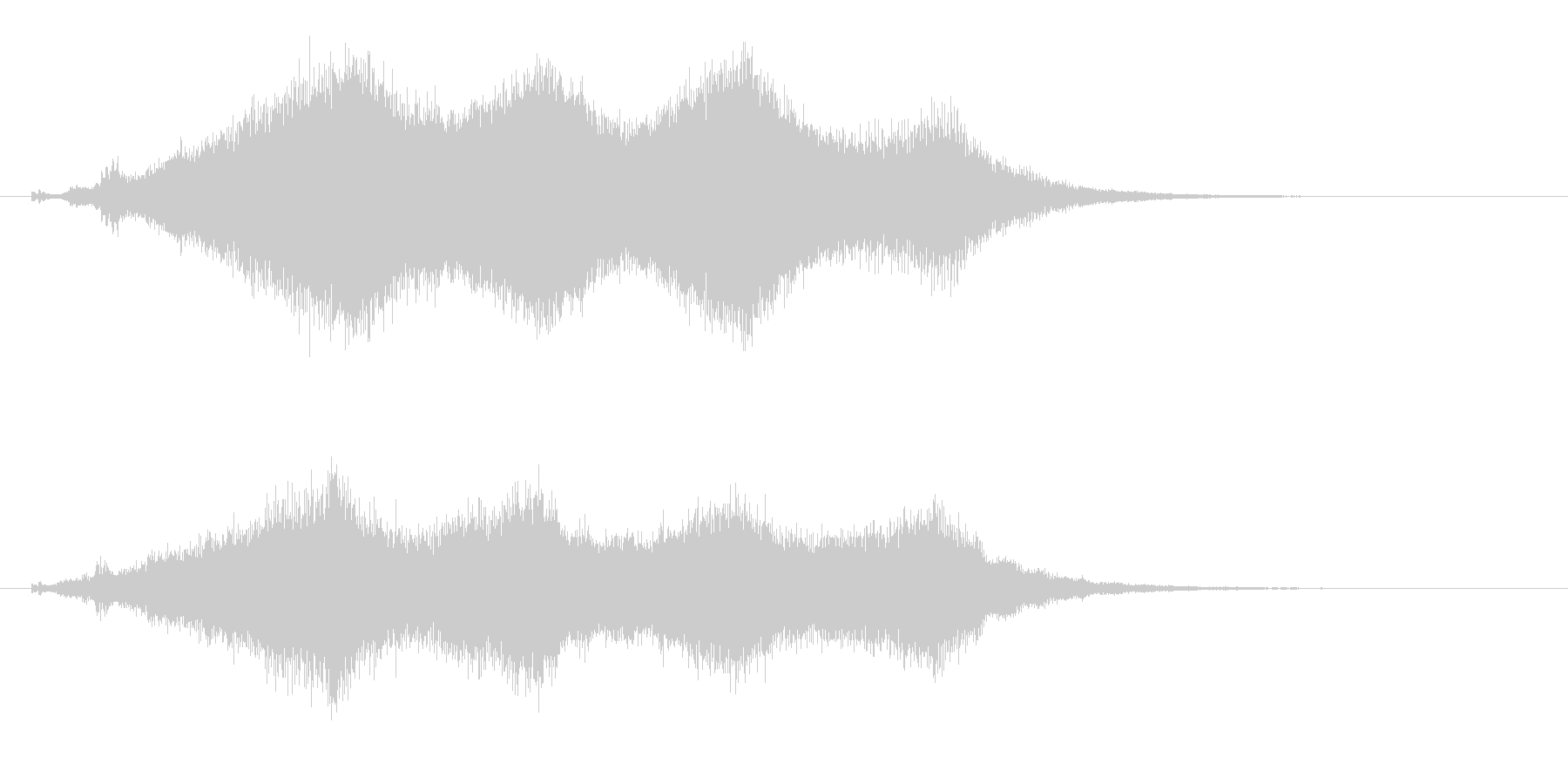 占う2 水晶を覗く効果音 タロットカードの未再生の波形