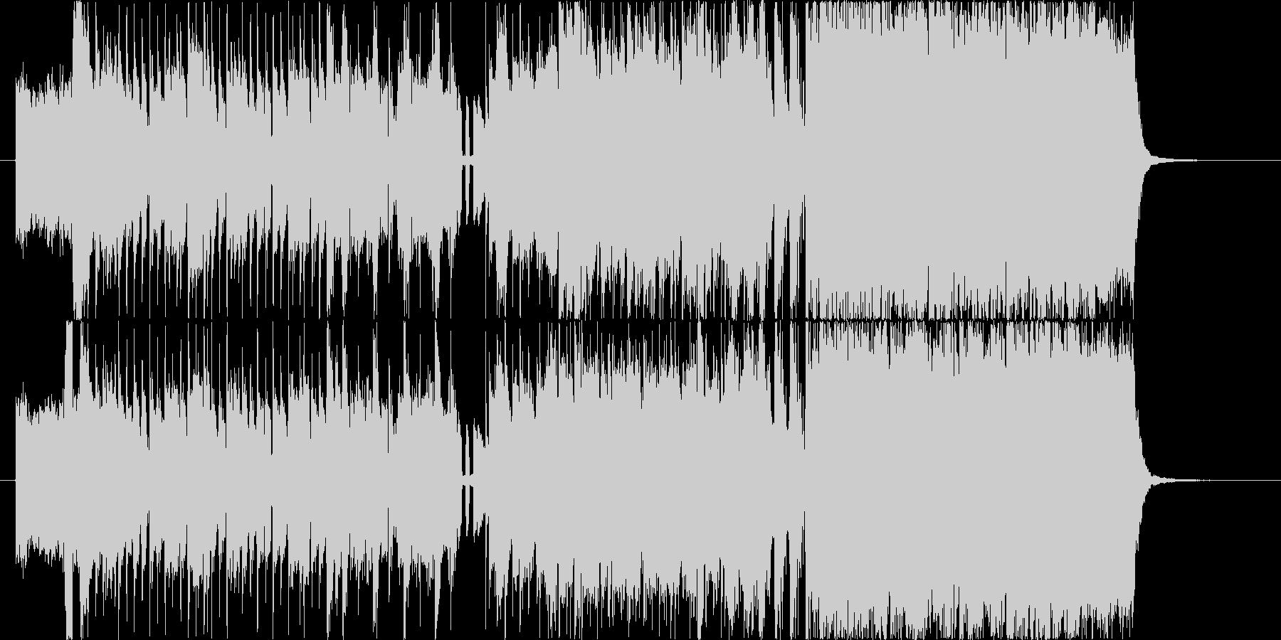爽快なギターロックの未再生の波形