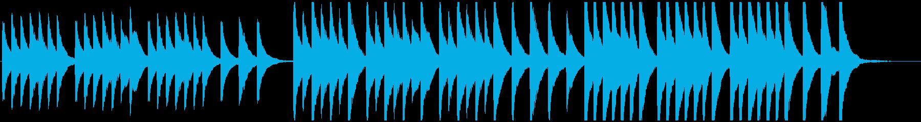 怪談話や妖怪・肝試しなど謎めいたホラー曲の再生済みの波形