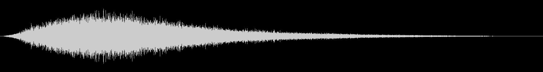 細い魔法の渦巻きのフーシュの未再生の波形