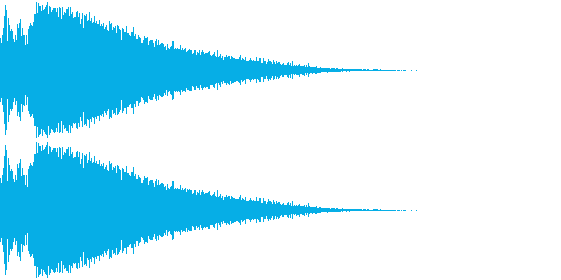 着弾のイメージです。「合成するとおいし…の再生済みの波形