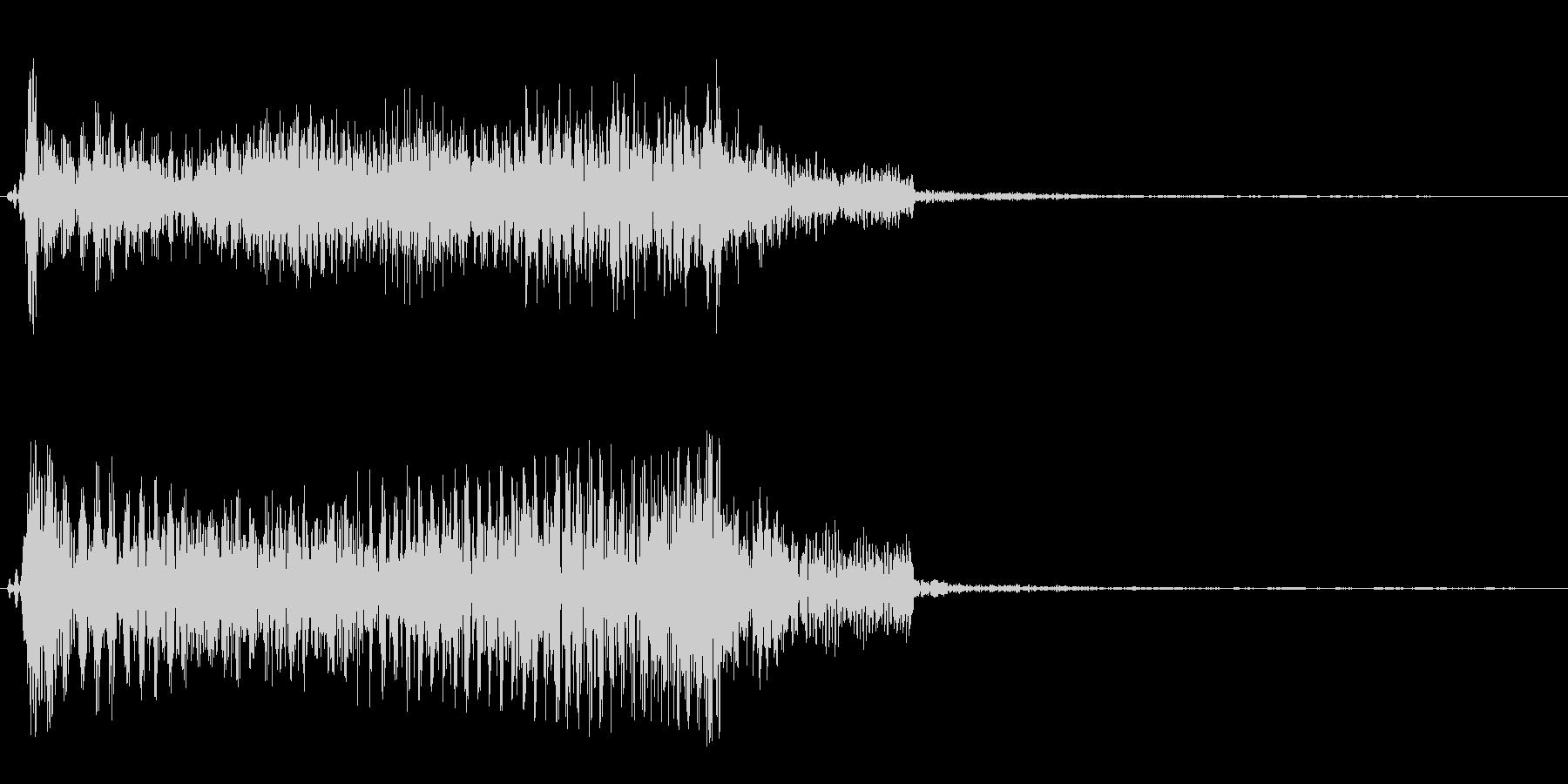バネがキューンと伸びて縮む音の未再生の波形
