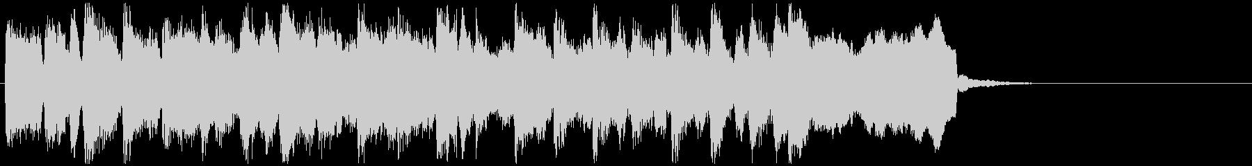ピクニック系リコーダーポップスのジングルの未再生の波形