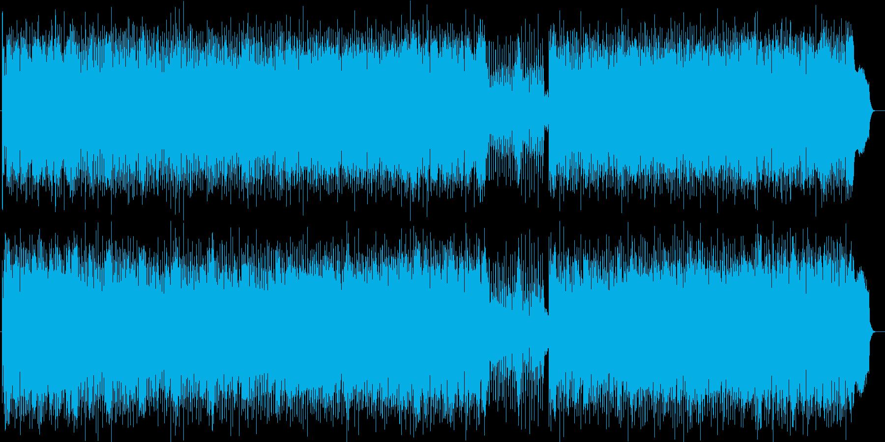 ドラマティックなシンセサイザーサウンドの再生済みの波形