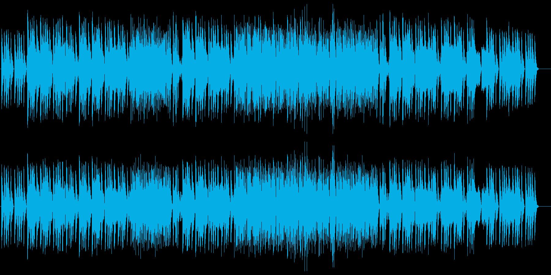 暖かい雰囲気のジャズの再生済みの波形