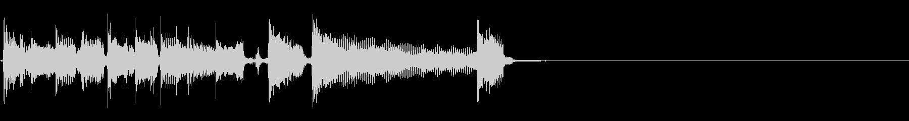 エレキ一本によるロカビリー風ジングルの未再生の波形