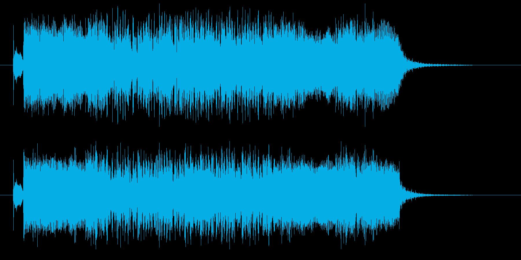 エレキギターの力強く疾走感のあるロックの再生済みの波形