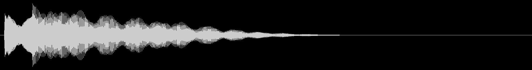 マレット系 決定音03(小)の未再生の波形