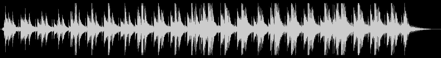 爽やかなスロービートのピアノ曲の未再生の波形