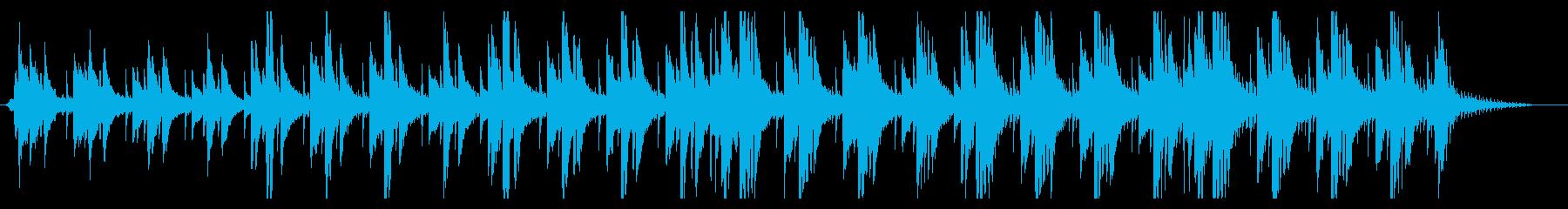 爽やかなスロービートのピアノ曲の再生済みの波形