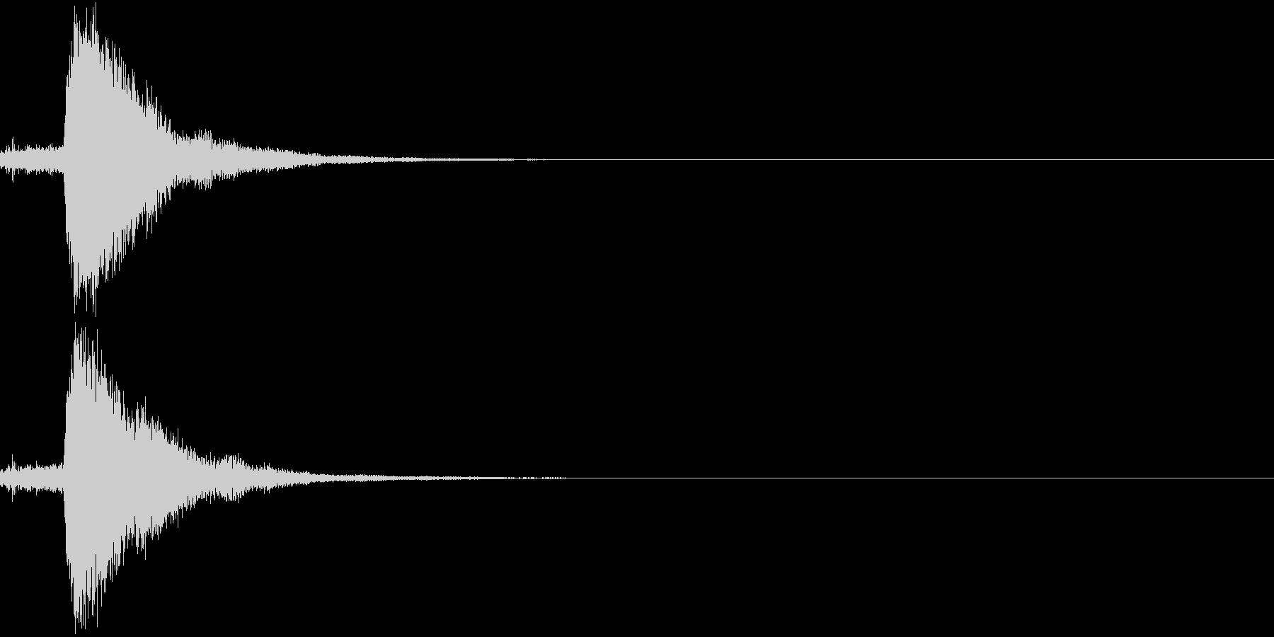 刀 キーン 剣 リアル インパクト Rの未再生の波形