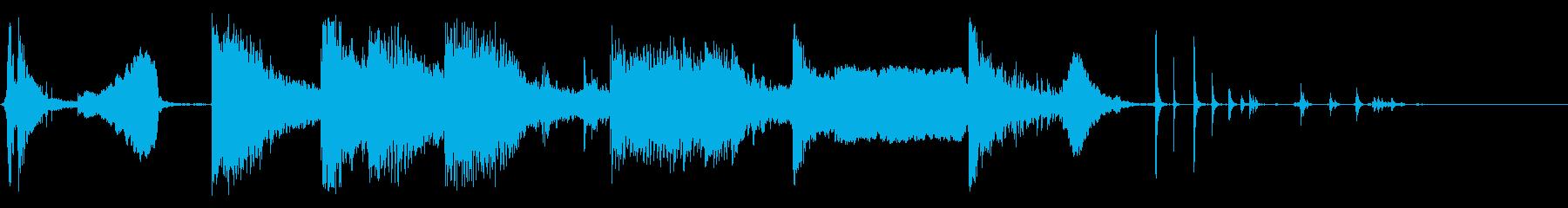ロングドライブ:ボールの跳ね返りが...の再生済みの波形