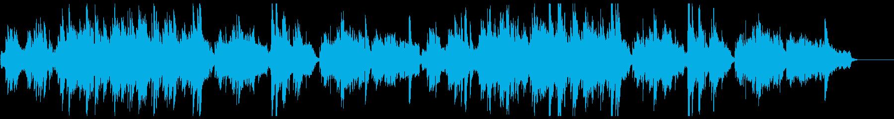 映像向けフルートとハープの切ないバラードの再生済みの波形