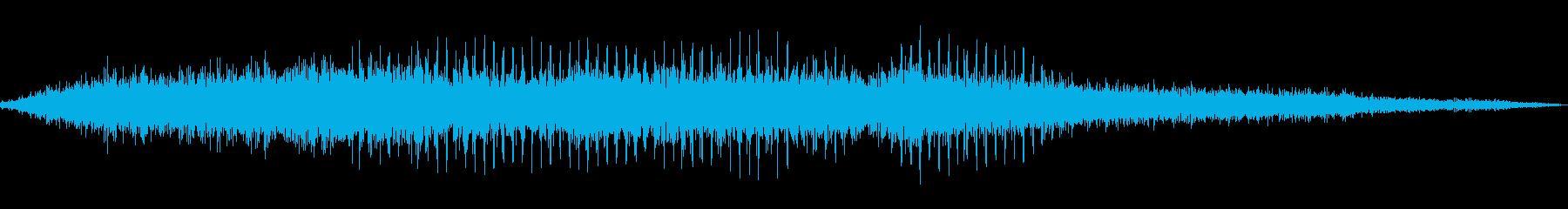ヘリコプター/プロペラ/飛行音!01の再生済みの波形