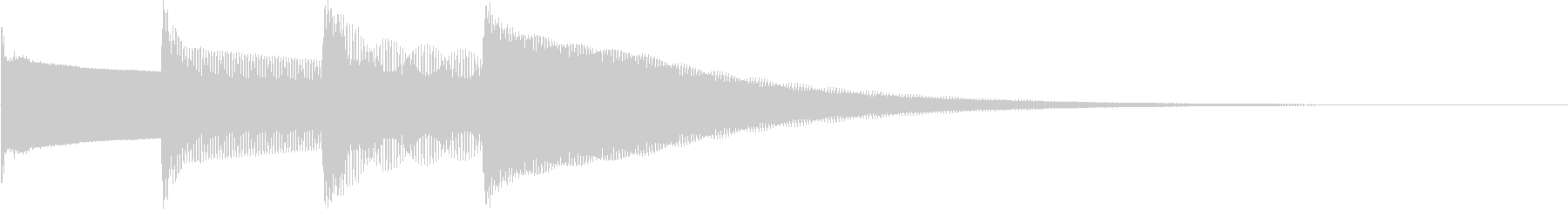 ピンポンパンポン(通常のチャイム、ベル)の未再生の波形