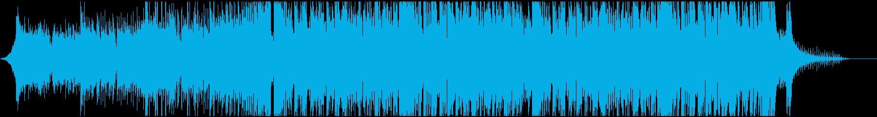 ドラムンベースなジングルの再生済みの波形