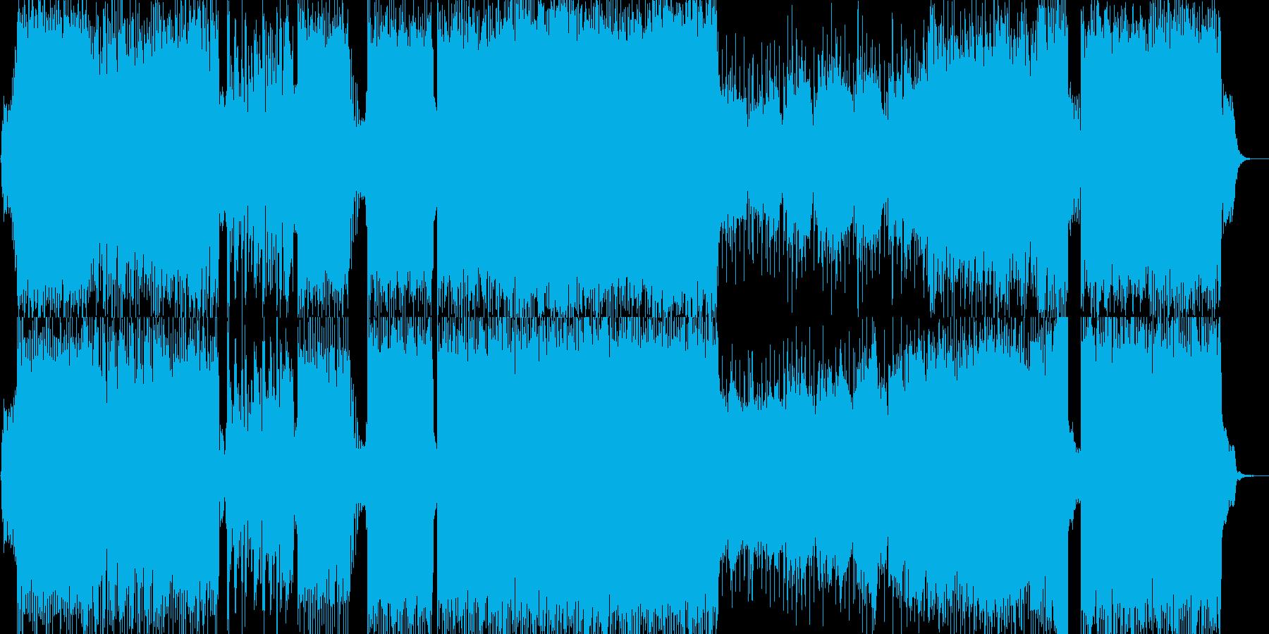 攻撃的で疾走感のあるデジロック 入場の再生済みの波形