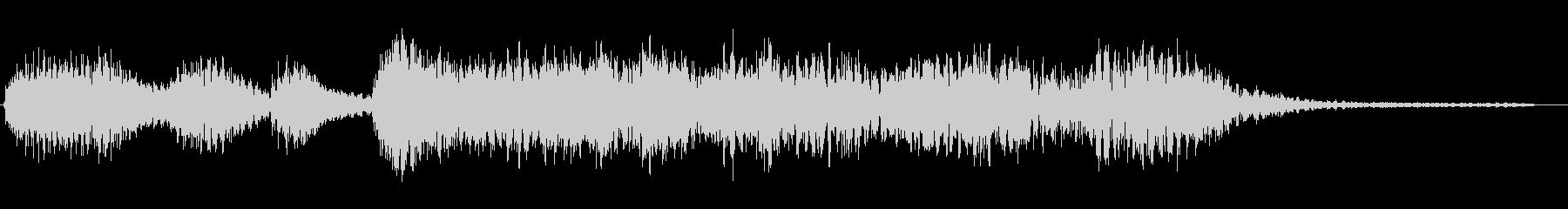 ニュースのタイトル前のシンセサイザー音の未再生の波形
