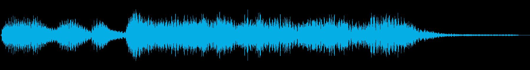 ニュースのタイトル前のシンセサイザー音の再生済みの波形
