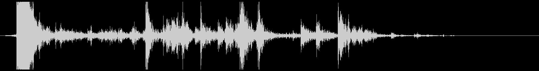 ウッドパイルへの影響ウッドヒットの未再生の波形