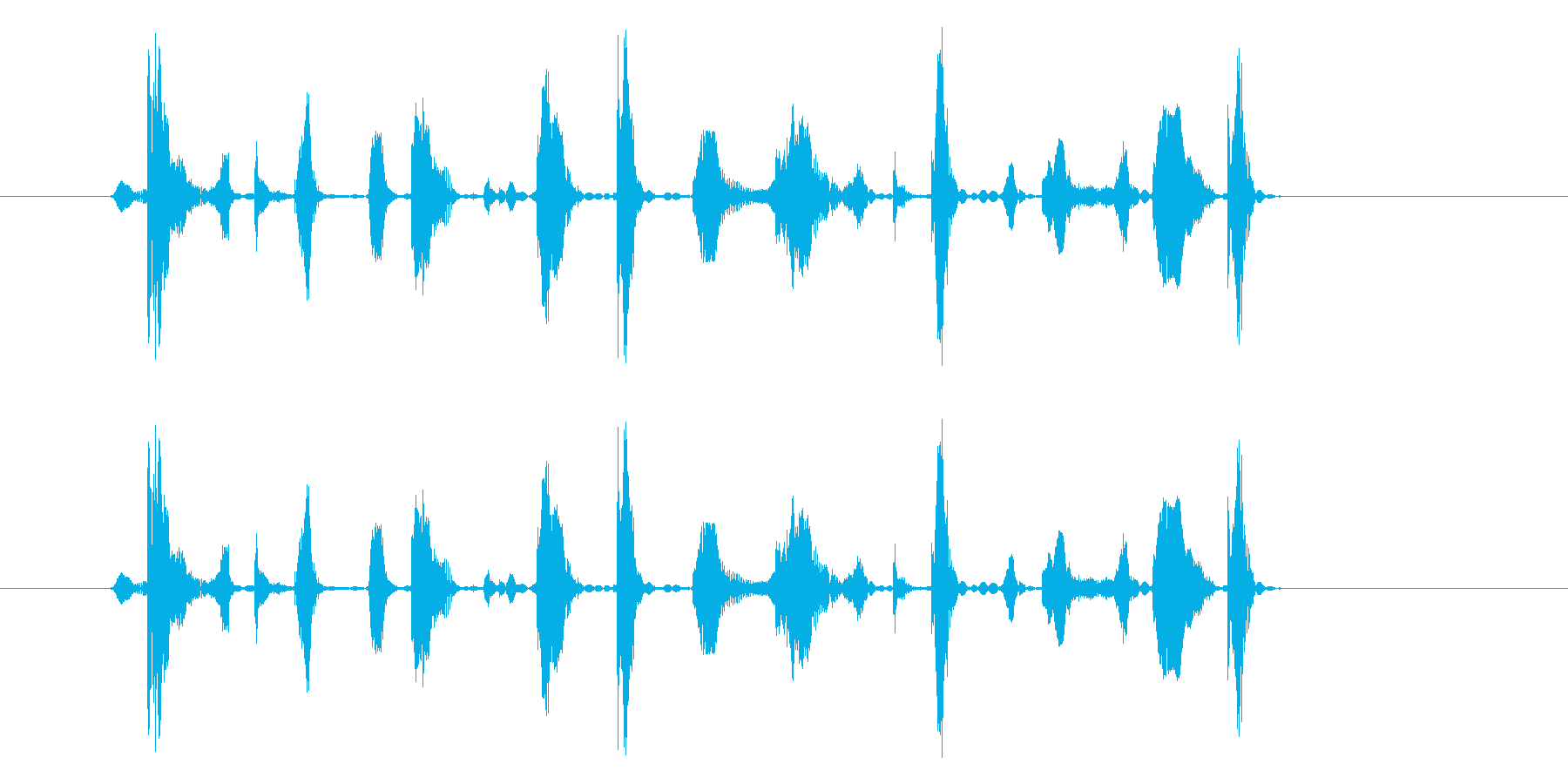 ブンツカダットドンドンガットの再生済みの波形