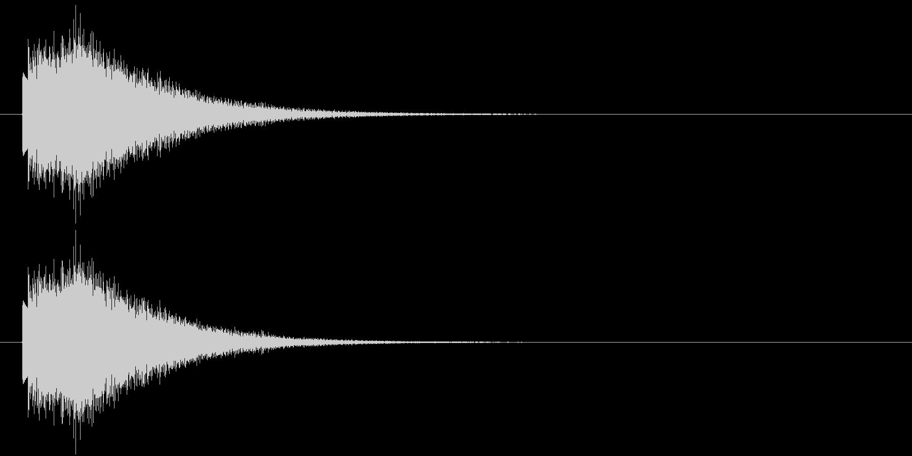 上昇するハープシコード音のSEの未再生の波形