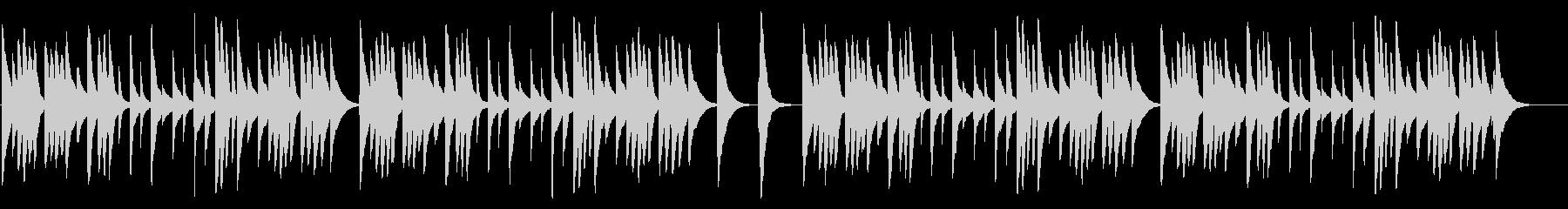 大きな栗の木の下で カード式オルゴールの未再生の波形