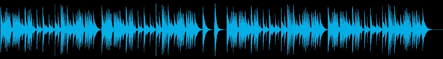 大きな栗の木の下で カード式オルゴールの再生済みの波形