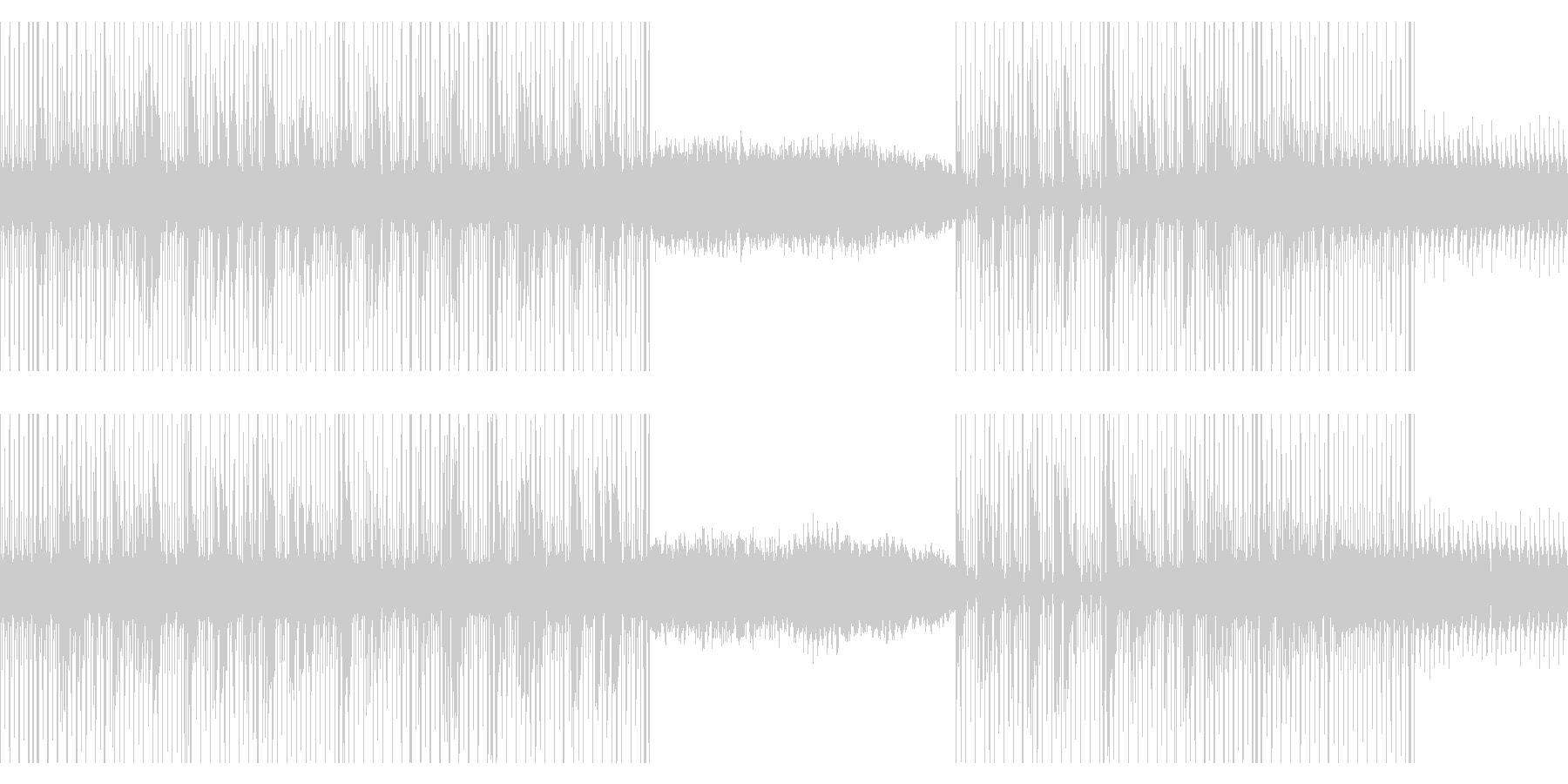 カリンバとシンセのビートの未再生の波形