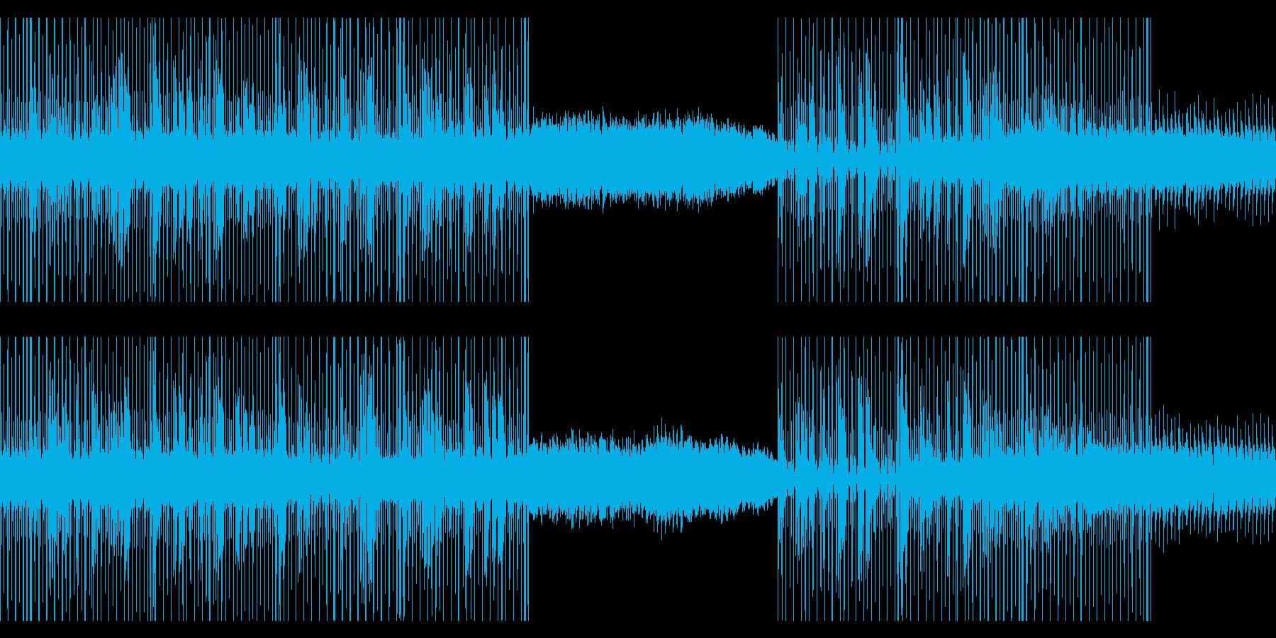 カリンバとシンセのビートの再生済みの波形