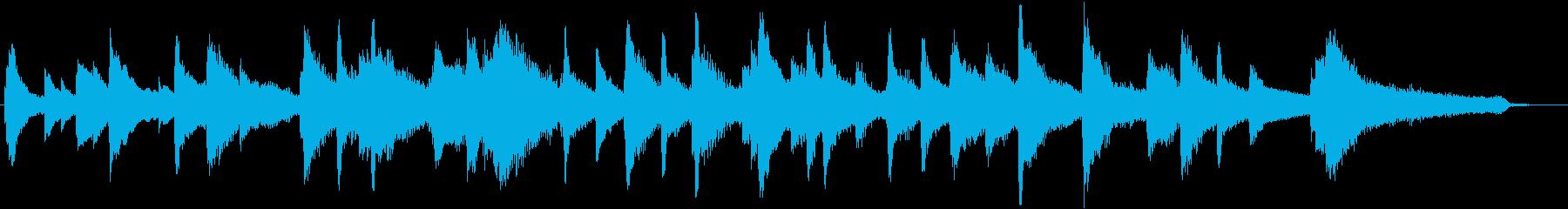 約45秒ピアノソロ。夜の静けさのような曲の再生済みの波形