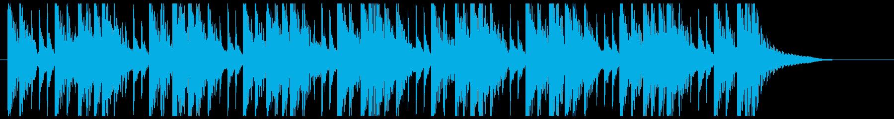 和太鼓を叩いているBGMの再生済みの波形