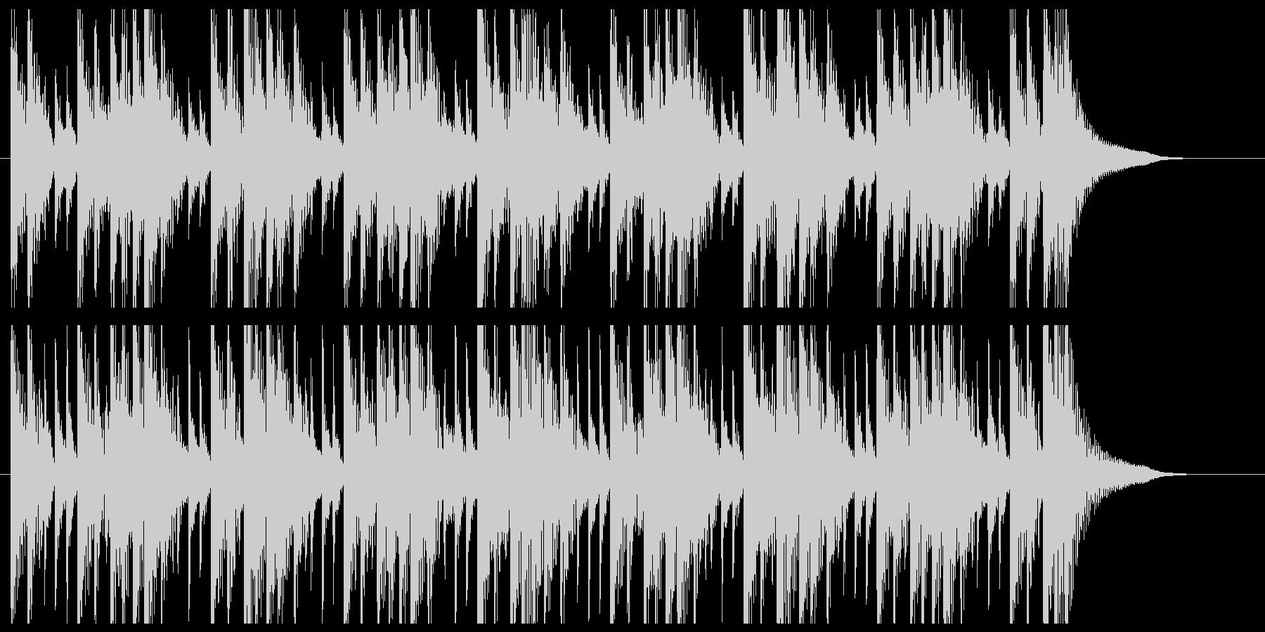 和太鼓を叩いているBGMの未再生の波形